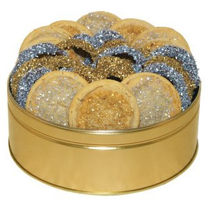 Gold and Silver Sugar Cookies and Mid-size Pretzels Combo 