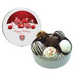 Chocolate Caramel Drops in Petite Tin with Logo Imprint (6)