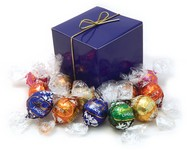 Swiss Chocolate Lindor Truffles (10) in a Treat Cube
