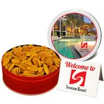 Southern Mammoth Pecan Halves Nut Gift in Regular Size Gift Tin
