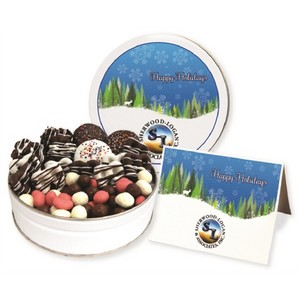 Deluxe Holiday Chocolate Assortment Small Gift Tin