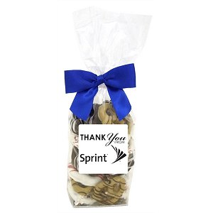 Holiday Chocolate Pretzel Grahams in a Decorative Gift Bag (24)