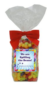 Gourmet Jelly Beans in Decorative Gift Bag with Label (15 oz)