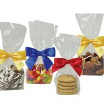 Chocolate Drizzled Toffee Crunch in Clear Mini Gift Bag (2.5 oz)