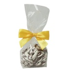 Chocolate Mini Pretzels in Mini Clear Gift Bags (18 pretzels)