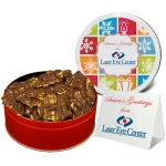Chocolate Drizzled Peanut Brittle in Regular Gift Tin