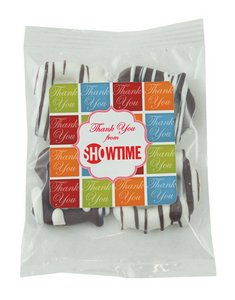 Individual Bag of 4 Chocolate Mini Pretzels (Milk or White)