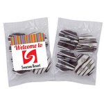 Chocolate Mini Pretzels Individually Packaged with Label 4 Pcs