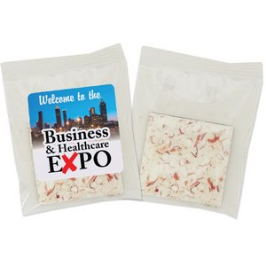 Peppermint Bark Individually Packaged with Imprinted Label