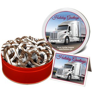 Mid-Size Chocolate Pretzels in Large Gift Tin