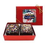 Chocolate Chip Fudge gourmet Brownies in Gift Box (2)