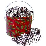 Mini Chocolate Covered Pretzel in Gift Bucket (20 sleeves of 5 )