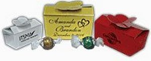 Gold, Silver or Ruby Touch box w/ 2 Swiss Truffles