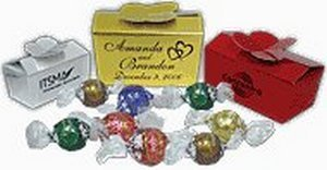 Gold, Silver or Ruby Touch Box With 8 Swiss Truffles
