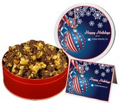 Chocolate Drizzled Toffee Crunch Popular in Small Tin (5 oz.)