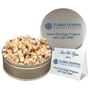 Toffee Crunch Gourmet Popcorn in Large Gift Tin (Not Drizzled)