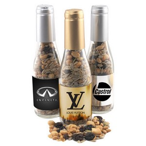 Champagne Bottle with Trail Mix
