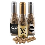 Champagne Bottle with Pistachios