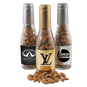 Champagne Bottle with Cashews