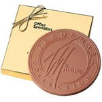 6 oz Round Custom Chocolate in Gift Box