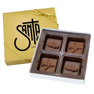 4 Chocolate Square Gift Box