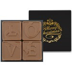 4 Swiss Chocolate Squares in Modern Gift Box