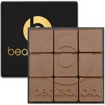 9 Swiss Chocolate Squares in Modern Gift Box
