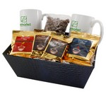 Tray with Mugs and Chocolate Raisins