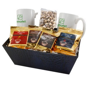 Tray with Mugs and Pistachios