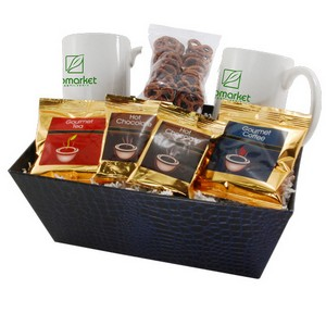 Tray with Mugs and Mini Pretzels