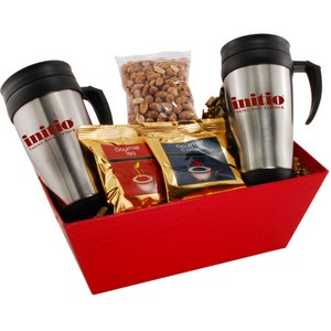 Tray with Mugs  and Honey Roasted Peanuts