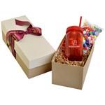 Mason Jar 21oz in Gift Box with Gumballs