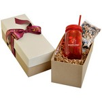 Mason Jar 21oz in Gift Box with Trail Mix