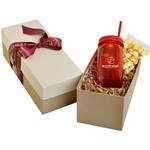 Mason Jar 21oz in Gift Box with Caramel Popcorn