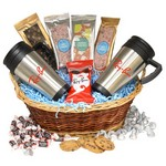Premium Mug Gift Basket-Chocolate Almonds
