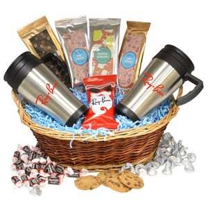 Premium Mug Gift Basket-Honey Rst Peanuts