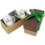 2 Mug Gift Box- Chocolate Almonds