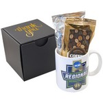 Soft Touch Gift Box with Full Color Mug and Gourmet Coffee