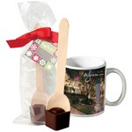 Full Color Mug with Hot Cocoa on a Spoon