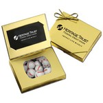 Business Card Box with Chocolate Baseballs