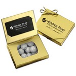 Business Card Box with Chocolate Golf Balls
