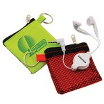 Retractable Earbuds in Keychain Bag