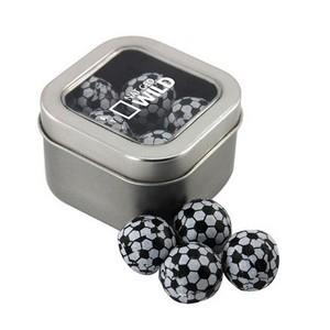 Window Tin with Chocolate Soccer Balls