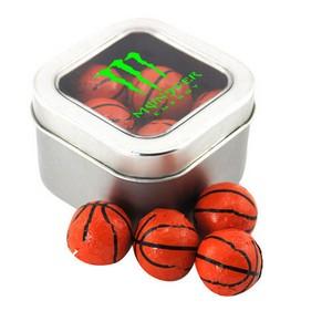 Window Tin with Chocolate Basketballs