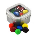 Window Tin with Peanut M&M's