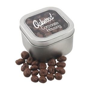 Window Tin with Chocolate Raisins