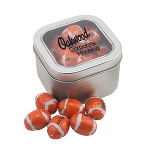 Window Tin with Chocolate Footballs