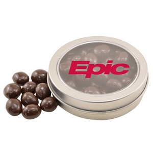 Round Tin with Chocolate Espresso Beans