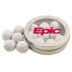Round Tin with Chocolate Golf Balls