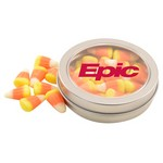 Round Tin with Candy Corn